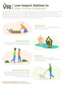 Low Impact Options to Stay Active Outdoors